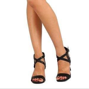 Peep Toe Criss Cross Stiletto -from ModCloth